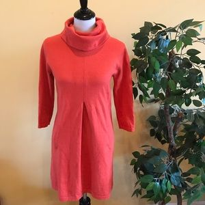 Tyler Boe Kim Cowl Neck Coral Sweater Dress Small